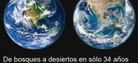 De bosques a desiertos en solo 34 años